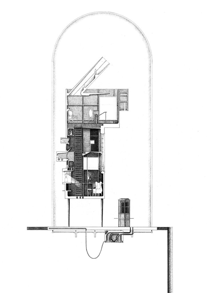 Section through collection house 1