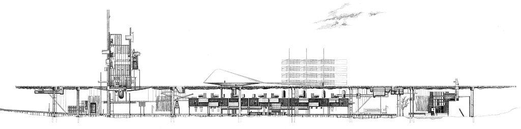 Long section through proposal
